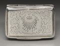 Silver Smalls:Vinaigrettes, A George IV Silver Vinaigrette. John Bettridge, Birmingham,England. 1829-30. Silver and silver gilt. Marks: (lion passan...
