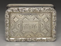 Silver Smalls:Vinaigrettes, A William IV Silver Vinaigrette. Nathaniel Mills, Birmingham,England. 1832-33. Silver and silver gilt. Marks: (lion pass...
