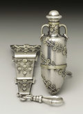Silver Smalls:Other , An American Silver Chatelain and Scent Bottle. Tiffany & Co.,New York, New York. 1873-75. Silver and silver gilt. Marks: ...