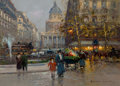 Fine Art - Painting, European, EDOUARD-LÉON CORTÈS (French, 1882-1969). Place du Pantheon.Oil on canvas. 13 x 18 inches (33.0 x 45.7 cm). Signed lower...