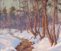 Fine Art - Painting, American:Modern  (1900 1949)  , WALTER LAUNT PALMER (American, 1854-1932). Upland Stream, MohawkValley, 1910. Oil on canvas. 25-1/2 x 30 inches (64.8 x...