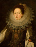 Fine Art - Painting, European:Antique  (Pre 1900), FLEMISH SCHOOL (Early 17th Century). Portrait of a NobleWoman, circa 1620-30. Oil on canvas. 32 x 24-1/2 inches (81.3x...