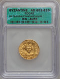 Ancients:Byzantine, Ancients: Phocas (AD 602-610). AV solidus....