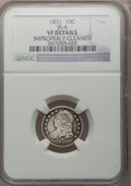 Bust Dimes: , 1831 10C -- Improperly Cleaned -- NGC Details. VF. JR-4. NGC Census: (3/280). PCGS Population (4/291). Mintage: 771,350. Nu...