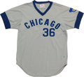 Baseball Collectibles:Uniforms, 1975 Bob Locker Game Worn Chicago Cubs Jersey....