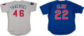 Baseball Collectibles:Uniforms, 1994 and 1999 Steve Trachsel Signed and Pat Cline Game Worn Chicago Cubs Jerseys Lot of 2....