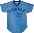 Baseball Collectibles:Uniforms, 1980 George Riley Game Worn Chicago Cubs Uniform....