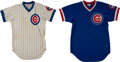 "Baseball Collectibles:Uniforms, 1970 ""No. 1"" and 1982 Randy Martz Game Worn Chicago Cubs Jerseys Lot of 2...."