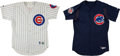 Baseball Collectibles:Uniforms, Corey Patterson and Dan Radison Game Worn Chicago Cubs Jerseys Lot of 2....