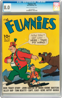 The Funnies #33 (Dell, 1939) CGC VF 8.0 Cream to off-white pages