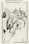 Original Comic Art:Splash Pages, Sergio Cariello Man of Steel Gallery #1 Pin-Up Page 6Original Art (DC, 1995)....