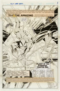 Original Comic Art:Splash Pages, Dave Hoover and Ralph Cabrera The Amazing Spider-Man SuperSpecial #1 Splash Page 1 Original Art (Marvel, 1995)....