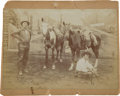 "Photography:Cabinet Photos, Cabinet Card Albumen Photograph: ""Old Joe"" Gillespie and CharlieSmith Winners of the Great Chadron Endurance Race, 1893...."