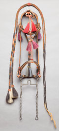 American Indian Art:Pipes, Tools, and Weapons, A PLAINS BRAIDED HORSEHAIR BRIDLE AND REINS. c. 1900... (Total: 2Items)