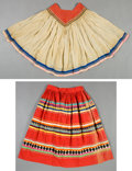 American Indian Art:War Shirts/Garments, A SEMINOLE CLOTH BLOUSE AND SKIRT... (Total: 2 Items)