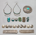 American Indian Art:Jewelry and Silverwork, TEN SOUTHWEST SILVER ITEMS. c. 1940 - 1960. ... (Total: 10 Items)
