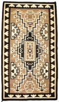 American Indian Art:Weavings, A NAVAJO REGIONAL RUG. Two Gray Hills. c. 1935...