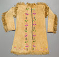 American Indian Art:Beadwork and Quillwork, A NORTHERN PLAINS QUILLED HIDE JACKET. c. 1880...