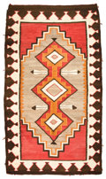 American Indian Art:Weavings, A NAVAJO REGIONAL RUG. Red Mesa. c. 1930...