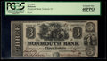 Obsoletes By State:New Jersey, Freehold, NJ- Monmouth Bank $3 Sep. 22, 1841. ...