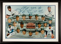 Baseball Collectibles:Photos, 1969 Chicago Cubs Reunion Multi Signed Oversized Photographs. ...