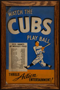 Baseball Collectibles:Others, 1935 Chicago Cubs Schedule Broadside - National League ChampionshipSeason!...