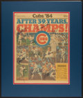 Baseball Collectibles:Others, 1984 Chicago Tribune page Signed by 11 Chicago Cubs. ...