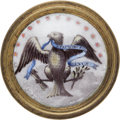 Political:3D & Other Display (pre-1896), Federal Eagle Patriotic Tie-Back....