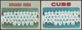 """Baseball Cards:Singles (1970-Now), Rare 1970 Topps """"Cubs"""" Proof Team Card and Final Version Pair (2)...."""