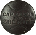 "Baseball Collectibles:Others, Rare ""Cap Anson for Sheriff"" Cuff Link. ..."