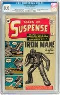 Silver Age (1956-1969):Superhero, Tales of Suspense #39 (Marvel, 1963) CGC VF 8.0 Cream to off-whitepages....