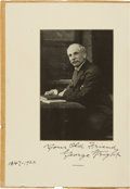 Autographs:Others, 1922 George Wright Signed Photographic Image in Booklet....