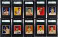 Baseball Cards:Lots, 1949 Bowman Baseball SGC-Graded Collection (34). ...