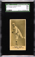 Baseball Cards:Singles (Pre-1930), 1916 M101-5 Blank Back Babe Ruth Rookie #151 SGC 70 EX+ 5.5!...