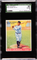 Baseball Cards:Singles (1930-1939), 1933 Goudey Babe Ruth #144 SGC 80 EX/NM 6....