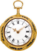 Timepieces:Pocket (pre 1900) , William Webster London Fine & Important Gold & EnamelQuarter Repeating Cylinder Fusee, circa 1775. ...