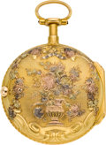 "Timepieces:Pocket (pre 1900) , Dufalga Geneva Multicolor Gold Quarter Hour ""a Toc"" Repeater, circa 1775. ..."