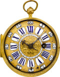 Timepieces:Pocket (pre 1900) , Le Siammois Paris Gilt Oignon Verge Fusee, circa 1690. ...