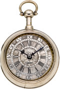 Timepieces:Pocket (pre 1900) , Daniel Quare London Fine Early 18th Century Quarter Repeating Verge. ...