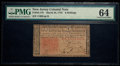 Colonial Notes:New Jersey, New Jersey March 25, 1776 6s PMG Choice Uncirculated 64.. ...