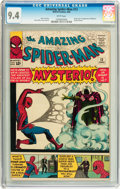 Silver Age (1956-1969):Superhero, The Amazing Spider-Man #13 (Marvel, 1964) CGC NM 9.4 Whitepages....