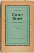 Books:Natural History Books & Prints, S. Roscoe. Thomas Bewick: A Bibliography Raisonné of Editions of the General History of Quadrupeds, The History of Briti...