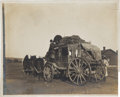 Western Expansion:Goldrush, Photograph of a Wyoming Stagecoach....