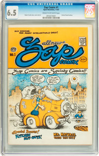 Zap Comix #1 First Printing - Plymell (Apex Novelties, 1967) CGC FN+ 6.5 Cream to off-white pages
