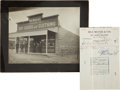 Western Expansion:Goldrush, Photograph of Max Meyer & Co. in Goldfield, Nevada... (Total: 2Items)
