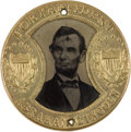 Political:Ferrotypes / Photo Badges (pre-1896), Abraham Lincoln: Unlisted Gault-Frame Ferrotype....