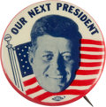 Political:Pinback Buttons (1896-present), John F. Kennedy: Scarce Picture Pin....