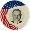 Political:Pinback Buttons (1896-present), Herbert Hoover: Colorful Picture Pin.. ...