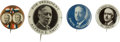 Political:Pinback Buttons (1896-present), Smith & Robinson: Gold Jugate and Three Picture Pins.... (Total: 4 Items)