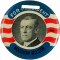 Political:Pinback Buttons (1896-present), Woodrow Wilson: Large Colorful Fob....